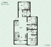 中央峰景B区3室2厅2卫0平方米户型图