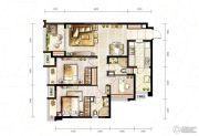 万科城3室2厅2卫87平方米户型图