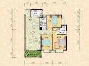 科特・明日华府二期3室2厅2卫135平方米户型图