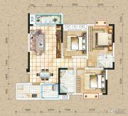 凤琴岚湾3室2厅2卫104平方米户型图