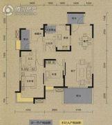 保利国际城翡丽湾3室2厅2卫118平方米户型图