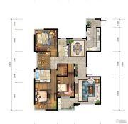 仁恒江湾城4室2厅2卫162平方米户型图