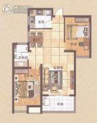 德瑞・太阳公元2室2厅1卫84平方米户型图
