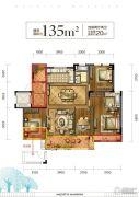 光明・御品4室2厅2卫135平方米户型图