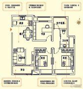 中海珑玺3室2厅1卫109平方米户型图