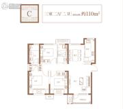 融创迩海3室2厅2卫110平方米户型图
