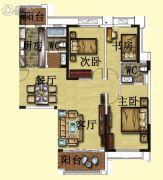 碧桂园・翡翠山3室2厅2卫138平方米户型图