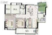富力南昆山温泉养生谷3室2厅1卫93平方米户型图