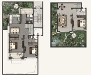 融创海上桃源3室2厅3卫89平方米户型图