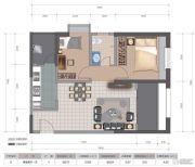 医大广场2室2厅1卫80平方米户型图