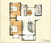 绿地泰晤士新城2室2厅1卫90平方米户型图