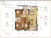 万科银海泊岸3室2厅2卫121平方米户型图