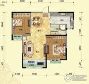 荷塘月色2室1厅1卫97平方米户型图