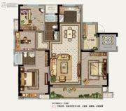 鲁能地产-吴蠡雅苑4室2厅2卫128平方米户型图