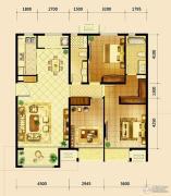 鸿坤・曦望山3室2厅2卫145平方米户型图