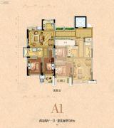 银河名苑2室2厅1卫89平方米户型图