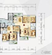 东方盛世华苑3室2厅2卫143平方米户型图