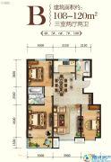 山海壹号3室3厅3卫119--120平方米户型图