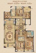 融创常州御园4室2厅4卫223平方米户型图