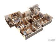 仁恒绿洲新岛4室2厅2卫181平方米户型图