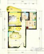鹿茵华庭1室1厅1卫66平方米户型图