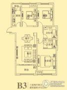 东方今典3室2厅2卫122平方米户型图