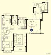 恒大名都3室2厅1卫102平方米户型图