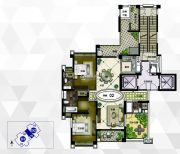 雅居乐御龙山2室3厅3卫190平方米户型图