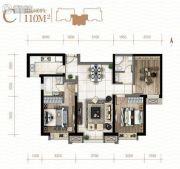 新城吾悦广场3室2厅2卫0平方米户型图