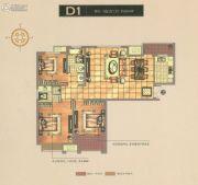 碧桂园梅公馆3室2厅2卫124平方米户型图