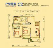 兴进上誉2室2厅2卫96平方米户型图