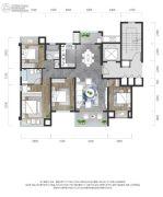 龙湖景粼玖序4室2厅2卫133平方米户型图