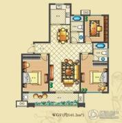 佳源・公园一号3室2厅2卫141平方米户型图
