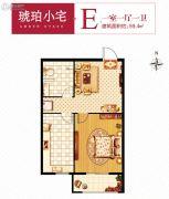 开元盛世1室1厅1卫59平方米户型图
