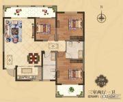 美伦・香颂3室2厅1卫112平方米户型图