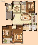 金麟府3室2厅2卫144平方米户型图