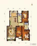 依云墅3室2厅2卫126平方米户型图