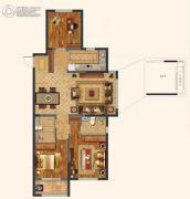中海・寰宇天下3室2厅2卫124平方米户型图