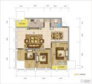 图腾・海博春天中心广场3室2厅1卫0平方米户型图