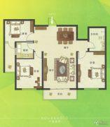 U乐广场3室2厅1卫116平方米户型图