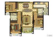 雅居乐滨江国际3室2厅2卫142平方米户型图