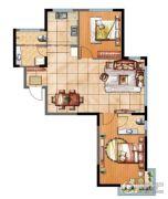 辰源雅景2室2厅2卫98平方米户型图