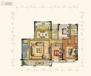 黄岩中梁香缇公馆4室2厅3卫175平方米户型图