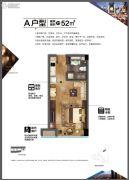 理想银泰城1室1厅1卫0平方米户型图
