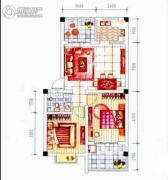 晋海御园二期2室2厅2卫68平方米户型图