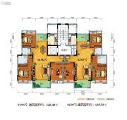 百江御城・龙脉3室2厅2卫118--125平方米户型图