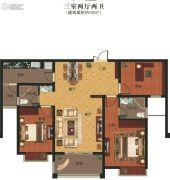 义乌城3室2厅2卫132平方米户型图