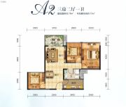 美丽洲3室2厅1卫79平方米户型图