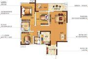 塞纳国际3室2厅2卫112平方米户型图