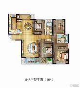 金地西沣公元4室2厅2卫164平方米户型图
